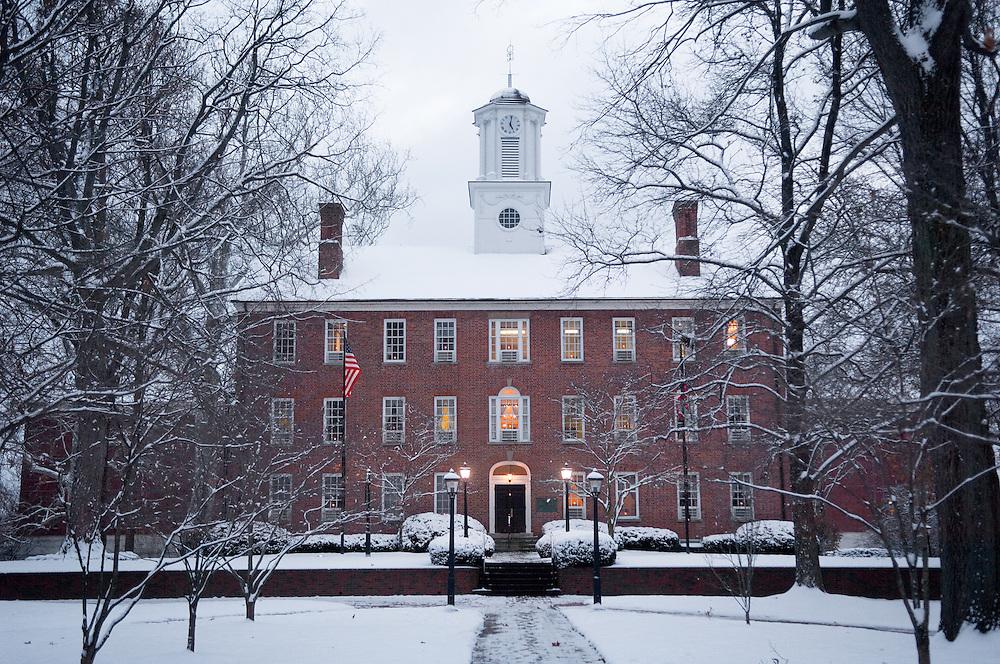 18515Campus winter Buildings Cutler Hall
