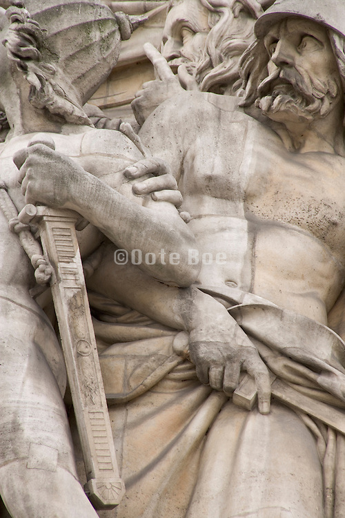 Arc de Triomphe Paris close up of a soldier in the Departure of the Volunteers in 1792 High Relief