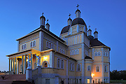 Ukrainian Catholic Church of the Immaculate Conception at dusk (Prairie Cathedral)<br /> Cooks Creek<br /> Manitoba<br /> Canada