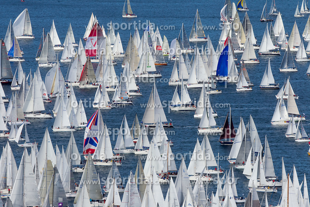 Boats compete during the Barcolana 43 sailing regatta hosted by Societa Velica di Barcola e Grignano on October 9, 2011, in Trst / Trieste Gulf, Italy.   (Photo by Vid Ponikvar / Sportida)