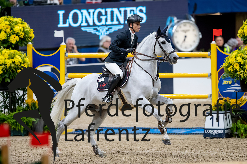 KÜHNER Max (AUT), Chardonnay 79<br /> Göteborg - Gothenburg Horse Show 2019 <br /> Longines FEI World Cup™ Final II<br /> Int. jumping competition with jump-off (1.50 - 1.60 m)<br /> Longines FEI Jumping World Cup™ Final and FEI Dressage World Cup™ Final<br /> 05. April 2019<br /> © www.sportfotos-lafrentz.de/Stefan Lafrentz