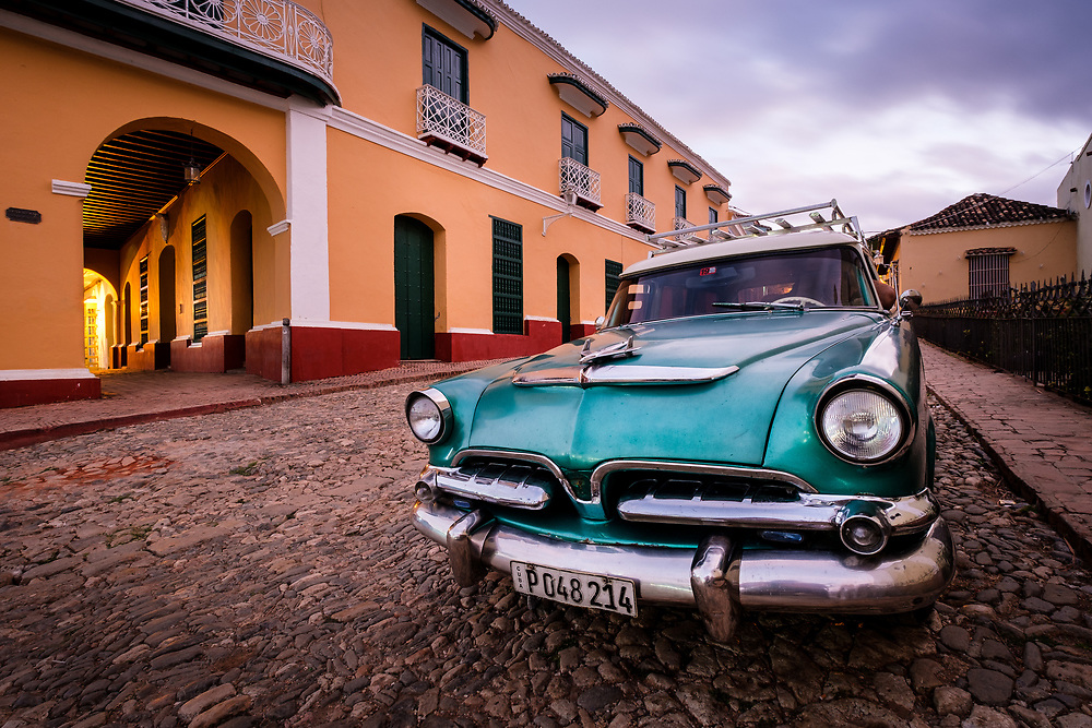 TRINIDAD, CUBA - CIRCA JANUARY 2020: Classic car in the streets of Trinidad.