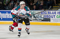KELOWNA, CANADA - MARCH 22: Mitchell Wheaton #6 of the Kelowna Rockets skates against the Tri-City Americans on March 22, 2014 at Prospera Place in Kelowna, British Columbia, Canada.   (Photo by Marissa Baecker/Shoot the Breeze)  *** Local Caption *** Mitchell Wheaton;
