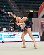 Martina Pasquini from Aurora Fano team during the Italian Rhythmic Gymnastics Championship in Bologna, 9 February 2019.