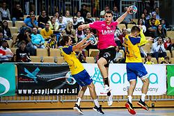 Matic Groselj of RK Celje Pivovarna Lasko vs Matevz Zagar of RD Koper during handball match between RD Koper and RK Celje, on October 16, 2019, in Dvorana Bonifika, Koper / Capodistria, Slovenia. Photo by Matic Klansek Velej / Sportida.