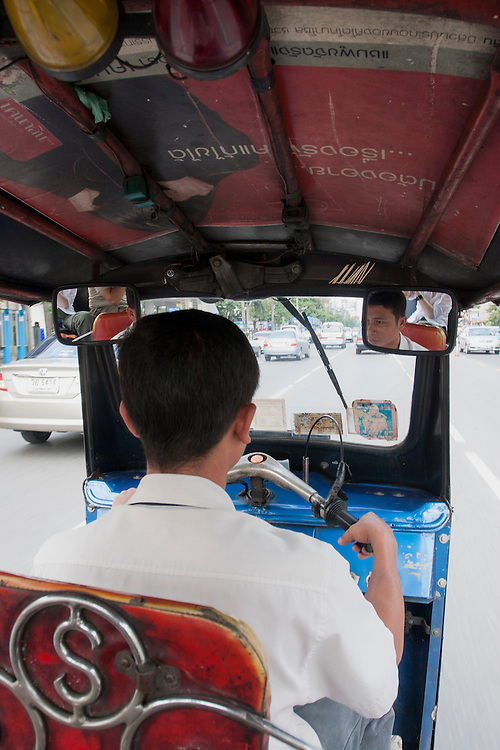 Tuc-tuc driver in Bangkok, Thailand.