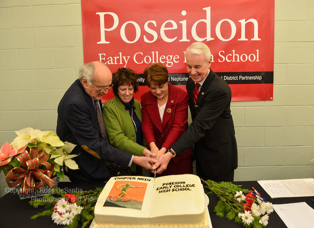 Brookdale Community College and Neptune High School signed the Memorandum of Understanding for the Poseidon Early College High School on Thursday, December 19, 2013. /Russ DeSantis Photography and Video, LLC