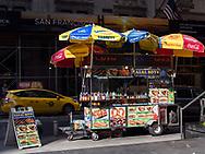 Food cart on 55th street near Sixth Avenue