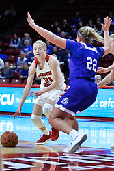 NORMAL, IL - January 06: Ally Gietzel during a college women's basketball game between the ISU Redbirds and the Drake Bulldogs on January 06 2019 at Redbird Arena in Normal, IL. (Photo by Alan Look)