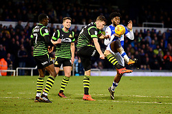 Ellis Harrison of Bristol Rovers challenges for the ball - Mandatory by-line: Dougie Allward/JMP - 23/12/2017 - FOOTBALL - Memorial Stadium - Bristol, England - Bristol Rovers v Doncaster Rovers - Skt Bet League One