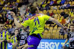 Gal Marguc #11 of RK Celje Pivovarna Lasko during handball match between RK Celje Pivovarna Lasko (SLO) and Besiktas J.K. (TUR)  in 14th Round of EHF Men's Champions League 2015/16, on March 5, 2016 in Arena Zlatorog, Celje, Slovenia. (Photo by Ziga Zupan / Sportida)