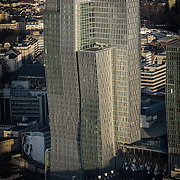 Sky line FRANKFURT AM MAIN, GERMANY.<br /> Francoforte è il centro finanziario della Germania e uno dei principali in Europa. Qui vi ha sede la Banca centrale europea, la Banca Federale Tedesca e la Borsa di Francoforte (terza al mondo per volume di scambi azionari).