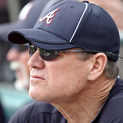 March 5, 2011; Lake Buena Vista, FL, USA; Former Atlanta Braves player Dale Murphy watches during a spring training exhibition game against the New York Mets at Disney Wide World of Sports complex.  Mandatory Credit: Derick E. Hingle