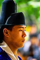 Korean bride groom, traditional wedding ceremony, Korean Folk Village, near Suwon, South Korea