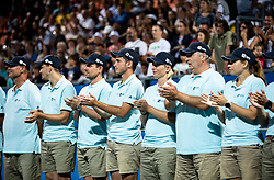 Line Umpires at Trophy ceremony after the Final match at Day 10 of ATP Challenger Zavarovalnica Sava Slovenia Open 2019, on August 18, 2019 in Sports centre, Portoroz/Portorose, Slovenia. Photo by Vid Ponikvar / Sportida
