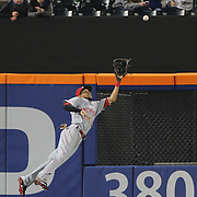 NEW YORK, NEW YORK - APRIL 26:  Billy Hamilton #6 of the Cincinnati Reds makes a spectacular diving catch at center field to rob Kevin Plawecki #26 of the New York Mets of a hit in the fifth inning during the New York Mets Vs Cincinnati Reds MLB regular season game at Citi Field on April 26, 2016 in New York City. (Photo by Tim Clayton/Corbis via Getty Images)