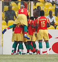 Photo: Steve Bond/Richard Lane Photography.<br /> Guinea v Morocco. Africa Cup of Nations. 24/01/2008. Fode Mansara celebrates Guines's opener