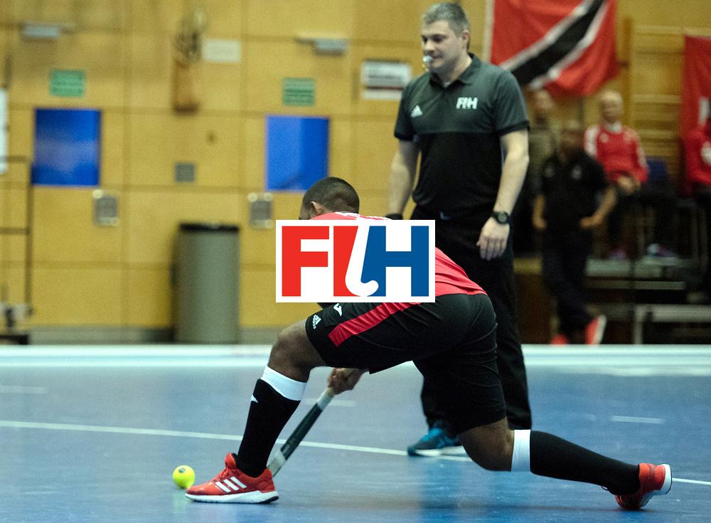 BERLIN - Indoor Hockey World Cup<br /> Trinidad &amp; Tobago - Australia<br /> foto: Jordan Reynos  <br /> WORLDSPORTPICS COPYRIGHT FRANK UIJLENBROEK