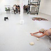 "03.06.2018.        <br /> An In-FLUX of visitors attended LSAD, Limerick School of Art and Design for one of Ireland's largest and most vibrant Graduate Shows.<br /> <br /> Sculpture and Combined media graduate Kate O'Shea performs at the opening of the Flux Exhibition.<br /> <br /> More than 200 Fine Art and Design students' work went on display from June 2 to June 10, 2018 at the LSAD Graduate Show - FLUX.<br /> LSAD has been central to Art, Craft and Design in the Limerick and Midwest region since 1852.<br />  <br /> The concept, branding and overall design of the 2018 LSAD Graduate Show - FLUX – is student led, and begins this Saturday June 2 and runs until June 10, 2018.<br />  <br /> FLUX encapsulates the movement and change from student to graduate. ""The ""X"" in ""FLUX"" represents the students and how they have made their mark in their time at college,"" explains designers Cathy Hogan and Will Harte as they outline the thinking behind the concept.<br />  <br /> FLUX describes the dynamic movement in the Limerick city region as it overcomes significant issues to become a fulcrum of rejuvenation, vibrant culture, strong industry growth and a centre of design.<br />  <br /> LSAD is also in a state of FLUX as it develops its enterprise potential and engagement with stakeholders across industry, public bodies, third level institutions and other partners overseeing a shift towards design, creativity and connectivity that goes far beyond the walls of its main campus on Clare Street. Picture: Alan Place"