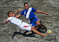 SAN SALVADOR, EL SALVADOR - MARCH 29:  CONCACAF Beach Soccer Championships El Salvador 2015 at Costa del Sol Stadium on March 29, 2015 in San Salvador. El Salvador. (Photo by Manuel Queimadelos)