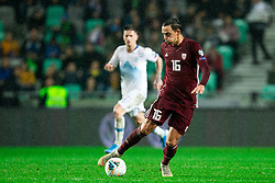 Igors Tarasovs  of Latvia during the 2020 UEFA European Championships group G qualifying match between Slovenia and Latvia at SRC Stozice on November 19, 2019 in Ljubljana, Slovenia. Photo by Vid Ponikvar / Sportida