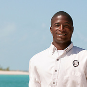 Friendly tourguide at Little Water Cay (Iguana Island) in Turks & Caicos