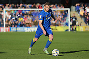 AFC Wimbledon midfielder Dean Parrett (18) passing the ball during the EFL Sky Bet League 1 match between AFC Wimbledon and Southend United at the Cherry Red Records Stadium, Kingston, England on 25 March 2017. Photo by Matthew Redman.
