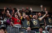 Vegas Golden Knights fans sing and celebrate their win over the Chicago Blackhawks as the game nears the end  at T-Mobile Arena on Tuesday, Oct. 24, 2017.  L.E. Baskow