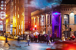 "© Licensed to London News Pictures . 13/12/2019 . Manchester , UK . GV of Montana House (left) and FAC251 nightclub (right) (also known as "" The Factory "") on Princess Street in Manchester City Centre . Sinaga was living in Montana House and committed many of his offences there . Reynhard Sinaga has been convicted of over a hundred serious sexual assaults , including the rape of dozens of young men whom he lured to his flat from outside nightclubs in Manchester City Centre , making him one of the most prolific sex offenders ever to have been tried and convicted . Photo credit : Joel Goodman/LNP"
