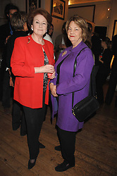 Left to right, LADY LIZ ANSON and GINNY HIBBERT at an exhibition of Joth Shakerley's photographs 'The Rainbow Tribe' held at 49 Glebe Place, London SW10 on 13th November 2007.<br /><br />NON EXCLUSIVE - WORLD RIGHTS