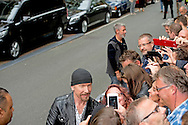 AMSTERDAM - Bono and the edge of U2 in Amsterdam  . COPYRIGHT ROBIN UTRECHT