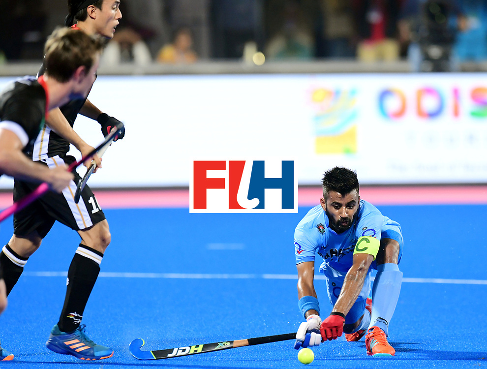 Odisha Men's Hockey World League Final Bhubaneswar 2017<br /> Match id:21<br /> India v Germany<br /> Foto: Manpreet Singh (Ind) <br /> COPYRIGHT WORLDSPORTPICS FRANK UIJLENBROEK