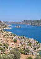 The Bay of Kekova, south coast Turkey<br /> view from above Kalekoy  <br /> c. Ellen Rooney