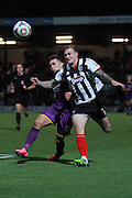 Billy Waters and Richard Tait during the Vanarama National League match between Grimsby Town FC and Cheltenham Town at Blundell Park, Grimsby, United Kingdom on 30 October 2015. Photo by Antony Thompson.