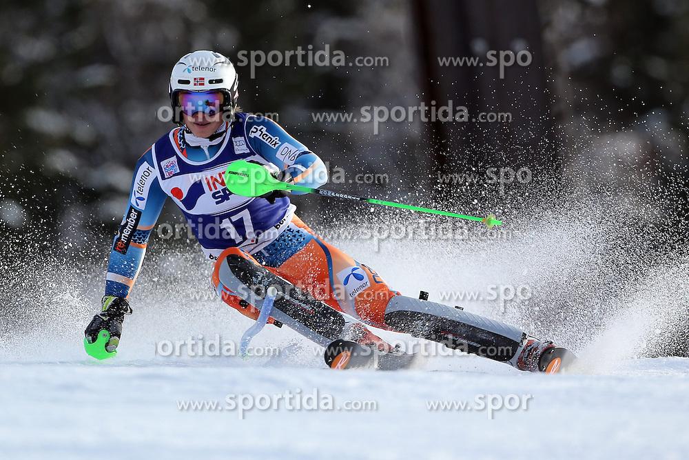 06.01.2014, Stelvio, Bormio, ITA, FIS Weltcup Ski Alpin, Bormio, Slalom, Herren, im Bild Henrik Kristoffersen // Henrik Kristoffersen  in action during mens Slalom of the Bormio FIS Ski World Cup at the Stelvio in Bormio, Italy on 2014/01/06. EXPA Pictures © 2014, PhotoCredit: EXPA/ Sammy Minkoff<br /> <br /> *****ATTENTION - OUT of GER*****