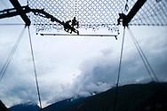 Ouvrages de protection des routes dur la route d'Anniviers en Valais le 19 juin 2010. (PHOTO-GENIC.CH/ OLIVIER MAIRE)