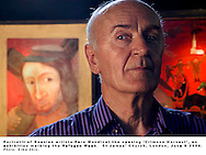 Portrait of the Bosnian artist Pero Mandic at the opening of the 'Crimson Harvest' exhibition, marking the Refugee Week, St James' Church, London, UK - June 08 2004