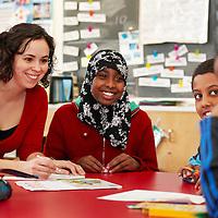 Teamwork in the classroom, teacher & students