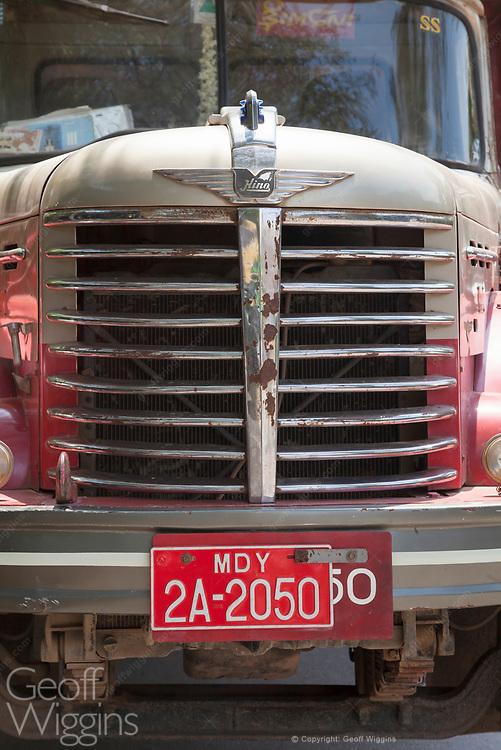 Vintage Hino cargo truck, Mandalay, Myanmar