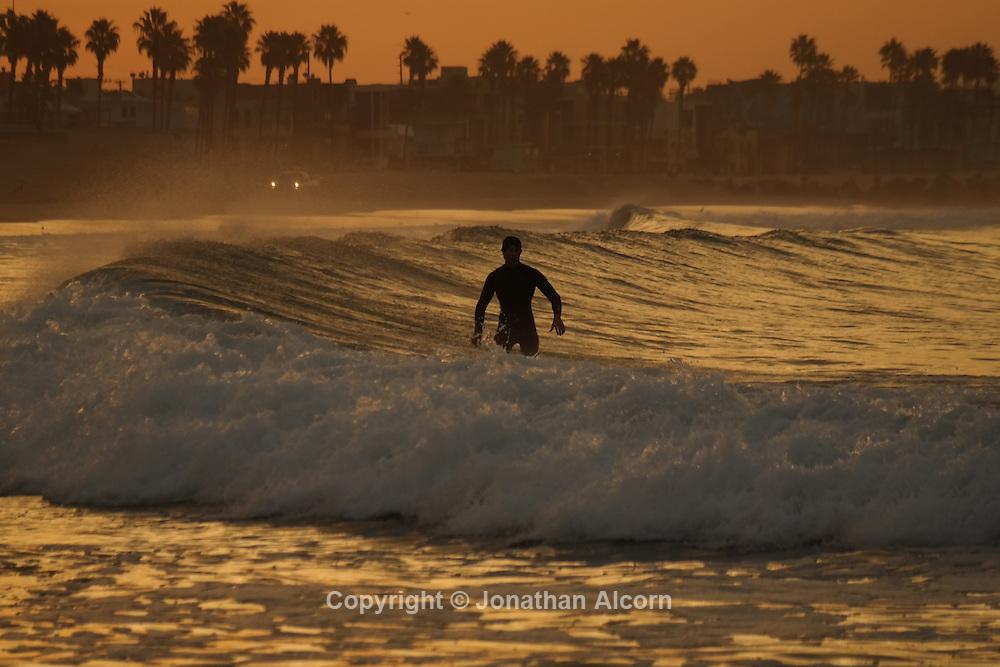 sunrise in Venice Beach, California