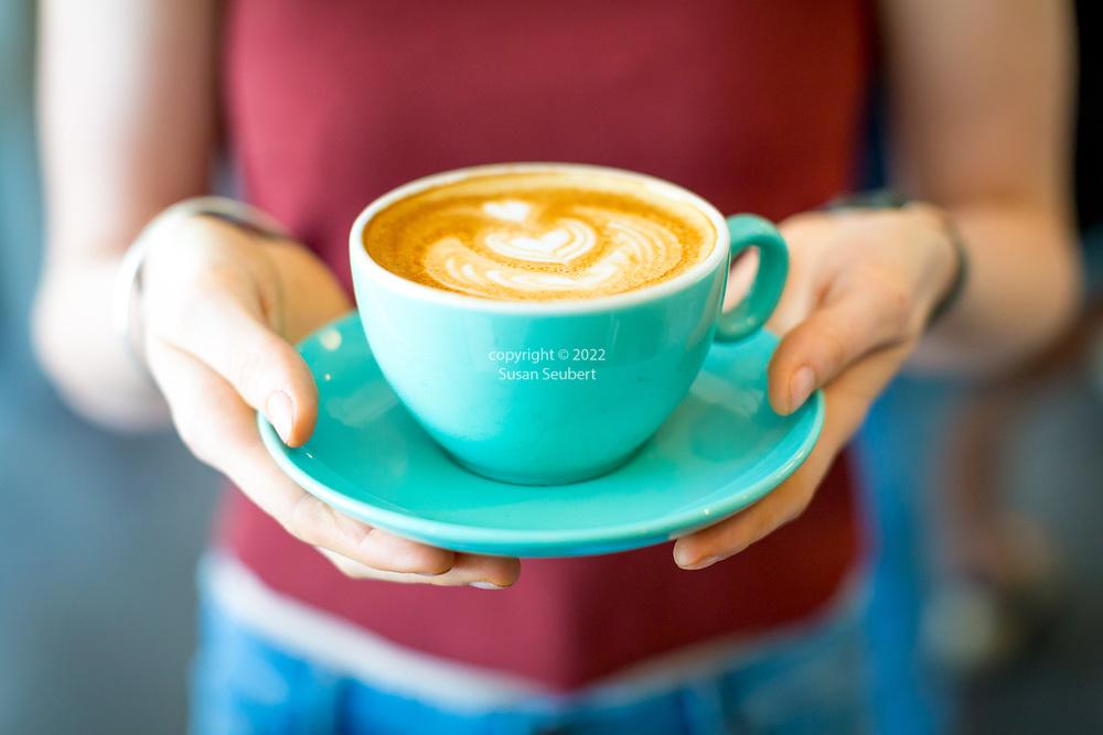 49th Parallel Coffee Shop, Vancouver, British Columbia, Canada.