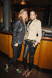 Left to right, ELIZABETH VON GUTTMAN and ASTRID MUNOZ at a party to celebrate the launch of Cavalli Selection - the first ever wine from Casa Cavalli, held at 17 Berkeley Street, London W1 on 29th May 2008.<br />