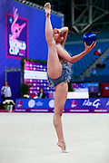 Varay Mira during the qualification of ball at the Pesaro World Cup 2018. She was born in Budapest Hungary in 2001.