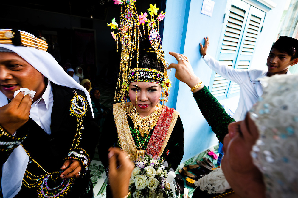 A Cham Muslim wedding in a small village near Chau Doc, Vietnam.