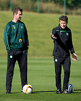 30/09/15<br /> CELTIC TRAINING<br /> LENNOXTOWN<br /> Celtic manager Ronny Deila (left) and assistant John Collins train their ahead of facing Fenerbache in the UEFA Europa League.