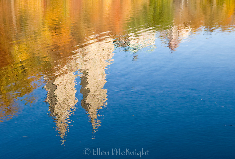 Autumn Reflections of the San Remo Building at The Lake in Central Park, New York City