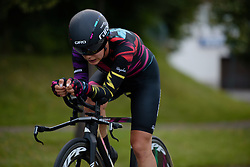 Elena Cecchini (CANYON//SRAM Racing) with just 600 metres to go at Thüringen Rundfarht 2016 - Stage 4 a 19km time trial starting and finishing in Zeulenroda Triebes, Germany on 18th July 2016.