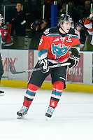 KELOWNA, CANADA, OCTOBER 29: Colton Sissons #15 of the Kelowna Rockets skates on the ice as the Kamloops Blazers visit the Kelowna Rockets  on October 29, 2011 at Prospera Place in Kelowna, British Columbia, Canada (Photo by Marissa Baecker/Shoot the Breeze) *** Local Caption *** Colton Sissons;