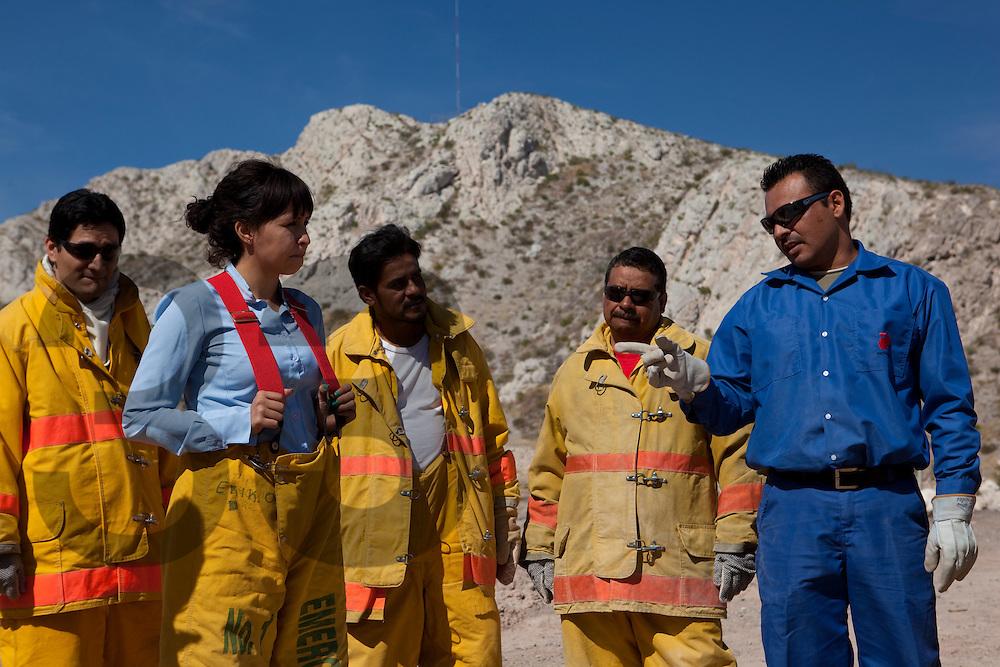 Entrenamiento de brigadistas para control de incendios, evacuación y asistencia
