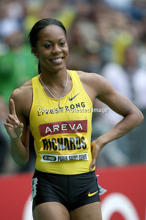 Sanya Richards wins a 400m race, at the IAAF Golden League Track and Field meeting on 17 July 2009 in Paris, France. Photo: Panoramic/PHOTOSPORT *** Local Caption ***